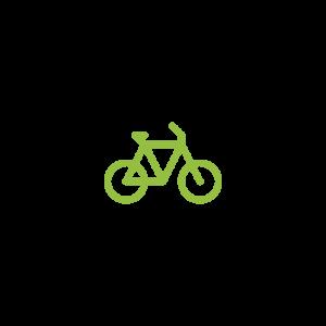 Auf dem Piktogramm sieht man ein Fahrrad.